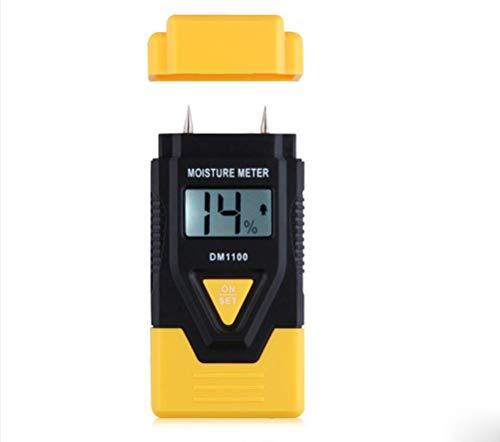3 In 1 Holz/Baustoffe Digitale Feuchtemessgerät, Schnittholz, Gehärtete Materialien Und Umgebungstemperatur (Gelb)