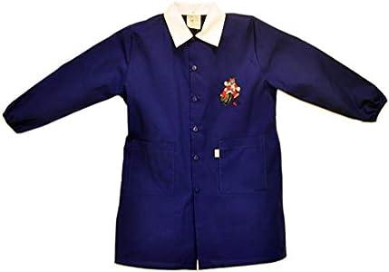 Tutti a Scuola - Bata de Colegio 28-423 para niño, Color Liso, Escuela Primaria, con Bordados ES 152cm