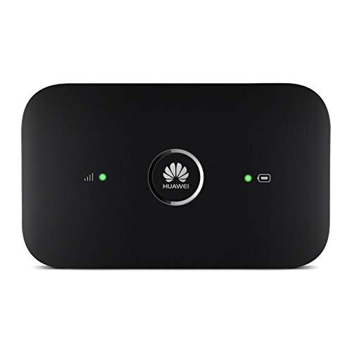 Huawei E5573Cs-322 – Wi-Fi móvil (150Mbps de velocidad de descarga, Wi-Fi Hotspot/router de bajo consumo energético, ranura de tarjeta SIM, hasta un máximo de 10 usuarios, 1 usuario vía USB), negro