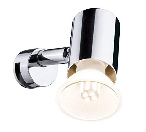 Paulmann 70880 Spiegelleuchte Mintaka Spiegellampe IP20 Aufsatzlampe Chrom Badezimmerlampe ohne Leuchtmittel Spotlight max. 20W GU10