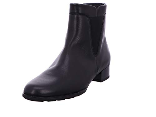 Gabor Damen Chelsea Boots, Frauen Stiefeletten,Optifit-Wechselfußbett,Hovercraft-Luftkammersohle,Best Fitting, flach Stiefel,schwarz,40 EU / 6.5 UK