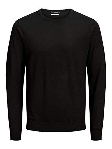 JACK & JONES Herren 12158190 Pullover, Schwarz (Black Black), Large (Herstellergröße: L)