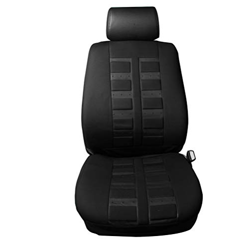 cciyu Seat Cover Universal Car Seat Cushion w/Headrest Cover - 100% Breathable Car Seat Cover Washable Auto Covers Replacement fit for Most Cars(Black)