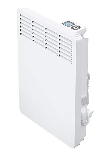 AEG casa Technik 236531parete Termoconvettore WKL 505per circa 5m², Riscaldamento 500W, 5–30gradi C, da appendere a parete, Display LCD, Timer settimanale, Metallo, colore: bianco
