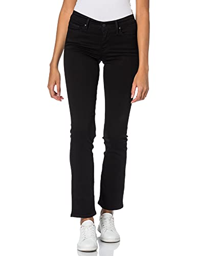 Levi's 314 Shaping Straight Jeans, Soft Black, 32W / 32L Donna