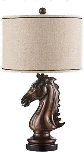 CCHWJX modeklassieker in Europese stijl hars lichtlichaam doek lampenkap netschakelaar tafellamp slaapkamer tafellamp