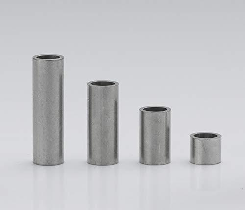 Edelstahl Distanzhülsen, Abstandshülsen – ohne Innengewinde, M4 Schrauben beweglich durchsteckbar – 6 x 4.4 x 0.8 mm (Außen x Innen x Wandstärke) – 5 Stück, Länge 40 mm