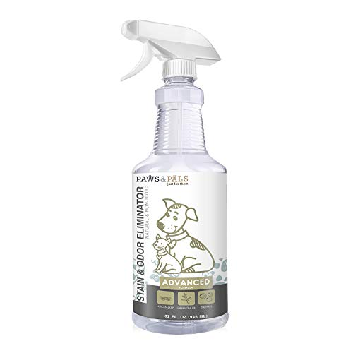 Pet Stain Enzyme Cleaner and Odor Eliminator - 32oz Spray Dog Urine Remover for Carpet Rug Hard-Wood Floor Stains - Enzymatic Destroy Animal Puppy Dogs Cats Pee Spot Eraser Smell Distroyer Solution