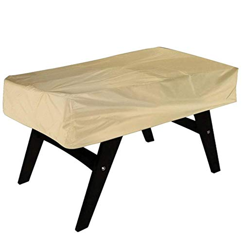 Pangdingk Cubierta de Mesa, Resistente al Desgaste y Duradera Cubierta Tridimensional Resistente al desgarro para Muebles, 142x132x38cm Balcón para Muebles Patio de Billar(Beige)
