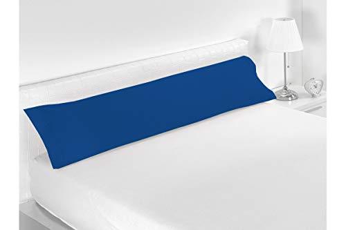 SABANALIA - Funda de Almohada Combina (Disponible en Varios tamaños y Colores), Cama 90-110 x 45, Azul