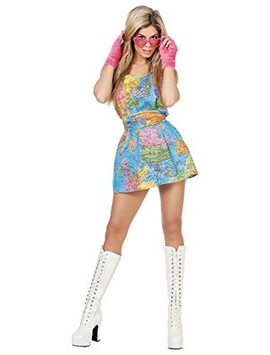 Globus Kostüm Damenkostüme Damen Karneval Fasching Kleid Gürtel Bunt