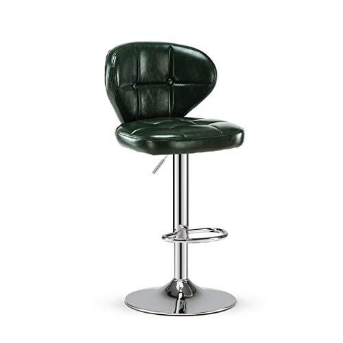 WJSW Hoher Hocker Barhocker Barhocker Stuhl Thekenstuhl Kann gedreht Werden 360 Grad-Drehverstellung Einfache Mode Ledersitz (Farbe: GRÜN)