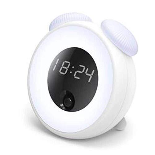 HAODEE Intelligente Induktion Zeit Wecker Nachtlicht USB Lade Schlafzimmer Nachttisch Lampe Pilz LED Kleine Tisch Lampe White