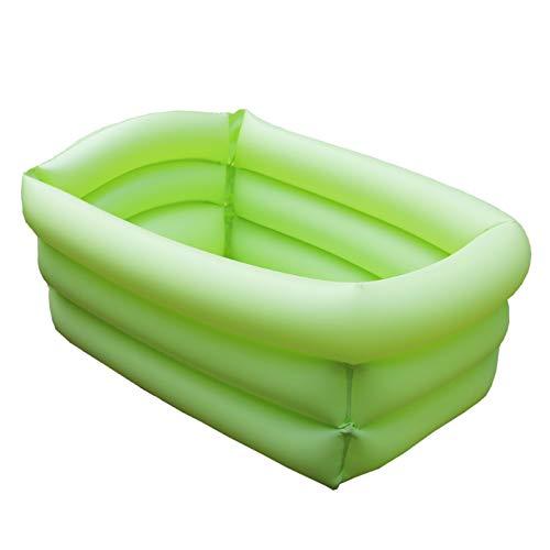 Hapeisy Piscina inflable verde para niños, piscina inflable rectangular, bañera de diversión acuática, piscina para niños para interior o exterior (9.6 x 4.7 pulgadas)