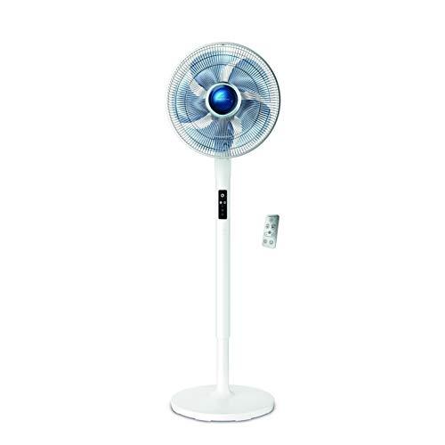 Rowenta VU5770 Silence Extreme + Stand, Ventilatore a Piantana, Silenzioso 35 dBA, 5 velocità, Pratico Telecomando, Timer Auto-off, Altezza Regolabile, Bianco, 600 x 500 x 1440 (mm)