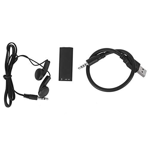 BWLZSP Registratore Audio Udienza vocale, Mini registratore Audio Portatile 96 Ore di archiviazione Audio Memoria da 8 GB Forniture domestiche alimentate Tramite USB
