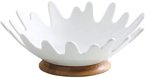 Gububi Cesta de Fruta de Niveles de Metal, Fruit Cesta Bowl Fruit Bowl - Cerámica Ama de casa Fruta Fruta Fruta de la, Soporte para Frutas y Verduras (Color : B)