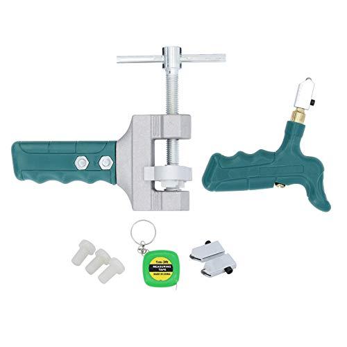 Yuhtech Juego de cortadores de vidrio, herramienta de corte de vidrio de aleación de carburo portátil para vidrio, espejo, azulejos herramientas de corte profesionales