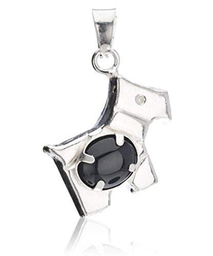 Córdoba Jewels   Colgante en Plata de Ley 925. Diseño Chippi Ónix