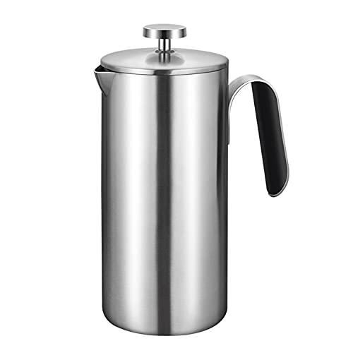 Cafetera Francesa De Émbolo, 100% Acero Inoxidable,...