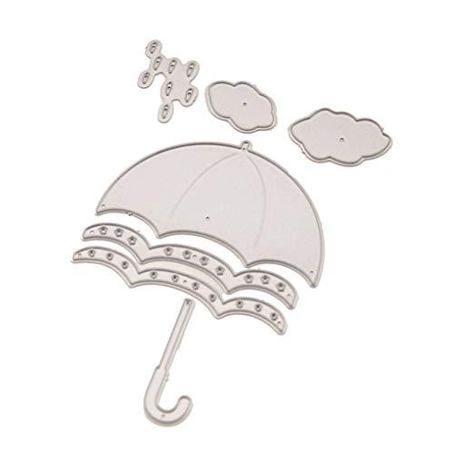 Busirde El Troquelado en Relieve de Acero al Carbono Cortador de la Gota de Agua del Paraguas del Molde DIY de Papel Manualidades Artículos