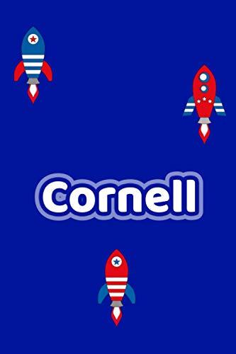 Cornell: Personalisiertes Vornamen Notizbuch / Tagebuch - 120 Seiten - Punkteraster - Format 6x9 ca. DIN A5