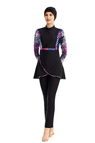 TianMaiGeLun Neuer bescheidener muslimischer Badeanzug für Frauen mit Hijab Full Cover Swimming Beachwear Wetsuits Kostüm (T2, 5XL)