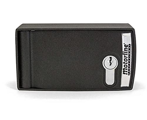 Caja de seguridad blindada para desbloqueo y accionamiento exterior para motor enrollable de persiana metalica comercial, puerta garaje y parking Motorline CSV200