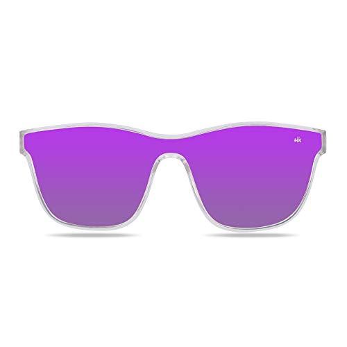 Hanukeii Gafas de Sol Espejo Mavericks Mujer, Hombre