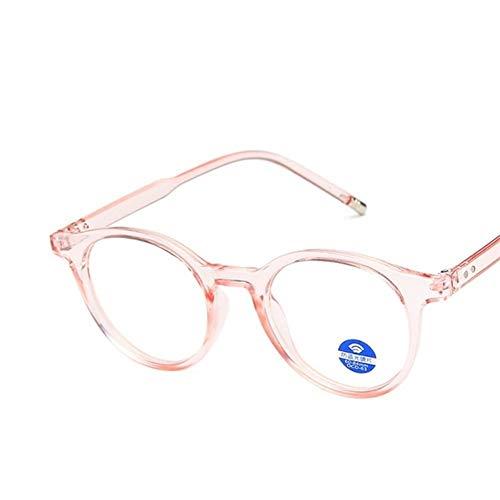 El Bloqueo Vidrios Azules Filtrado De Proteger La Vista Anti Azul Vidrios De La Luz Señora Bloqueo Transparente Antideslumbrante Computer Glasses Mujeres 0103 (Frame Color : Pink)