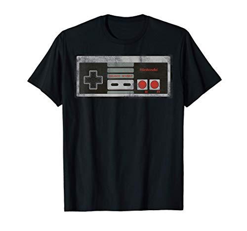 Nintendo NES Controller Retro Vintage Graphic T-Shirt, 5 Colors, S to 3XL