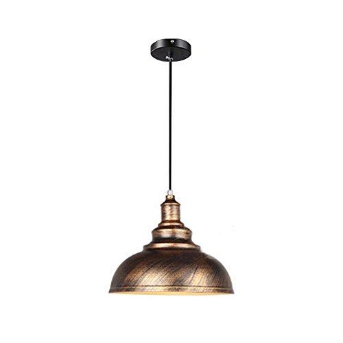 Wings of wind - Lampe en métal E27 Retro Plafonnier Vintage Pendentif Lampe Lampe Ombre (Sweep Gold)