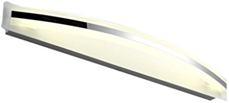 Home experience- Simple Mirror Front Light LED Natürliches Licht Dresser Make-up Beleuchtung Lampe Bad Wand Spiegel Scheinwerfer (gre   M LED12W-58cm)