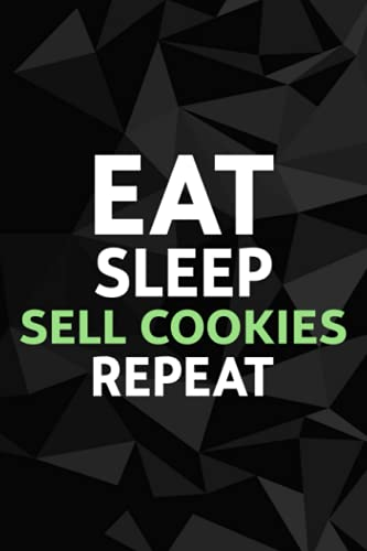 Eat Sleep Sell Cookies Repeat Pretty Gift Scout Cookie Password kog book: Alphabetized Internet Password Keeper and Organizer Journal Notebook for ... address and password logbook,Password Book