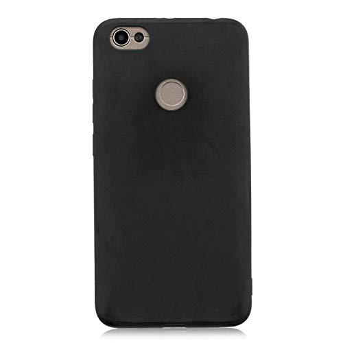 cuzz Funda para Xiaomi Redmi Note 5A+{Protector de Pantalla de Vidrio Templado} Carcasa Silicona Suave Gel Rasguño y Resistente Teléfono Móvil Cover-Negro