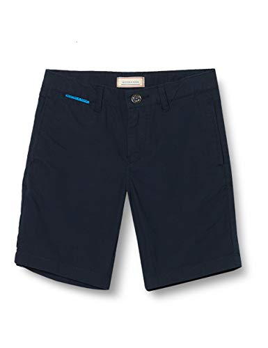 Scotch & Soda Shrunk Jungen Chino Baumwoll Shorts, Blau (Night 0002), 152 (Herstellergröße:12)