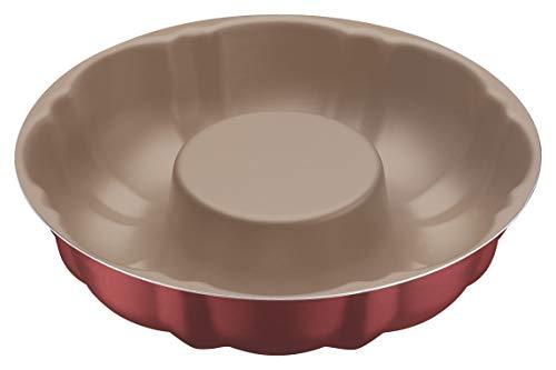Forma para Bolo de Alumínio com Revestimento Interno Antiaderente Tramontina Brasil Vermelho