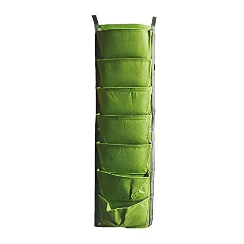 Hapeisy Macetas para colgar en la pared, 7 bolsillos para colgar en la pared de jardín, decoración del...