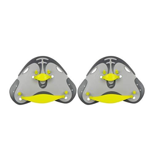 Speedo Unisex Fingerpaddel, Oxid-grau/Limetten-Grün/Kühles Grau,Einheitsgröße EU