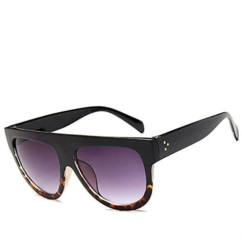 MIMITU Gafas de sol de gran tamaño para mujer, monturas grandes Retro para mujer, gafas de sol UV400, gafas de sol con remache galvanizado, sombras, n. ° 8
