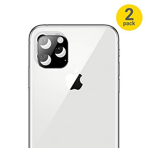 Olixar Protectores de Cámara iPhone 11 Pro MAX Cristal Templado - Cristal/Vidrio - Dureza 9H - Tempered Glass - 2 uds