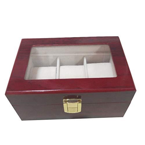 MIKI-Z (1 Stück 3-Bit rot Uhrenbox Aufbewahrungsbox