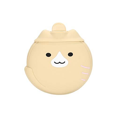 450ML Cartoon niedlichen Haustier Silikon Handwärmer kann Mikrowelle beheizt werden wiederverwendbare Winter Erwärmung liefert Wärmflasche warme Füße Bauch Gummibeutel Kind Erwachsener (Kaffee)