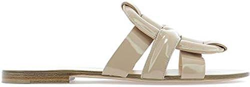 MGoldBé ROBIEN14 Damen Weißs Lackleder Sandalen