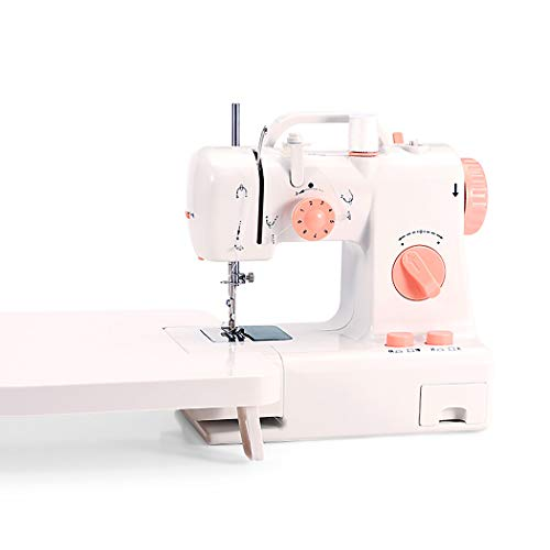 XM&LZ Best Sewing Machine for Beginners,Dual Speed Portable Sewing Machine Embroidery Machine with Extension Table,2-Speed Adjustable A 21x22x12cm(8x9x5inch)