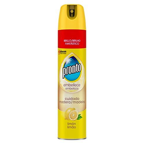 Pronto® Limpiador Aerosol Limon para muebles 5 en 1, Antipolvo y Abrillantador, 300 ml