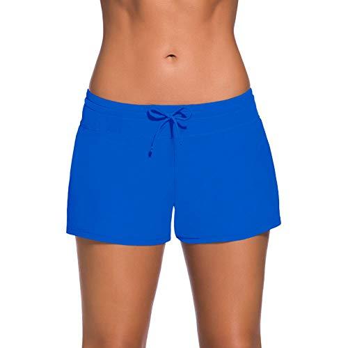 JMITHA Damen Badeshorts Kurze Badehose Sports Strand Wassersport Boardshorts UV Schutz Schwimmhose Schwimmshorts (S, Blau2)