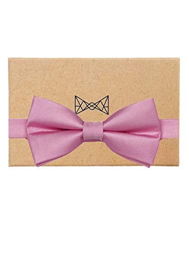 VLIEGENFAENGER vlinderdas roze voor heren van zijde I Rosé roze vlinderdas gebonden & verstelbaar I combineerbaar met pak bretels & insteekdoek incl. geschenkdoos