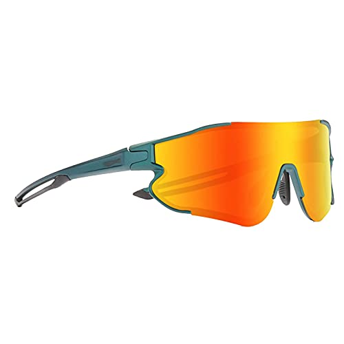 HGJINFANF Gafas de Sol de conducción de Pesca, Gafas de Sol polarizadas Deportivas, Gafas de Sol de Marco de Metal de Bicicleta de Golf for Hombres y Mujeres