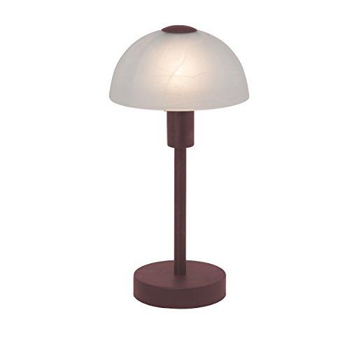 Brilliant AG 77347/20 Brilliant tafellamp, 1 x E14, glas, 40 W, bruin/wit albast